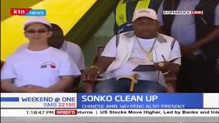 Governor Sonko leads this month's clean up exercise in Komarock