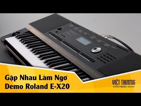Demo organ Roland E-X20   Gặp Nhau Làm Ngơ