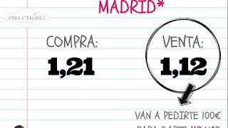 ¿Cuál es el tipo de cambio euro - dólar en Madrid? - Pirlutravel