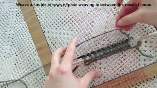 How To Weave Loops (pile Weave) On A Frame Loom: Weaving Tutorial For Beginners