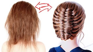 😱 EASY Hairstyle For Short Hair 😱Prom, Wedding, Bridal, Special Occasion Hairstyle By Another Braid