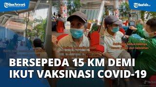 Kisah Kakek Rela Pinjam Sepeda dan Bersepeda 15 KM demi Ikut Vaksinasi, Jadi Inspirasi Warganet