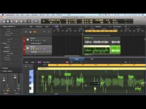 Logic Pro X – Flex Time and Flex Pitch [tutorial]