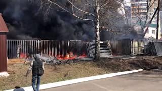 Пожар в Саранске: дыма много, огня — мало!