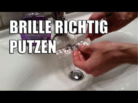 Brille richtig putzen - Brille richtig reinigen