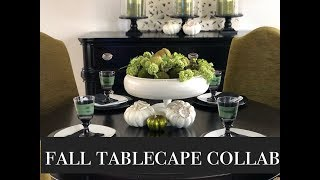 Beauti -Fall Tablescape Collab / Decorate With Me/ Fall Table Ideas