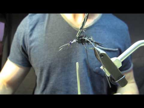 Fly tying. Ike's Giant Black Stone