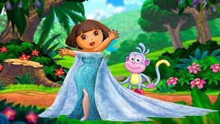 Dora La Exploradora Se Disfraza De Elsa De La Película Frozen