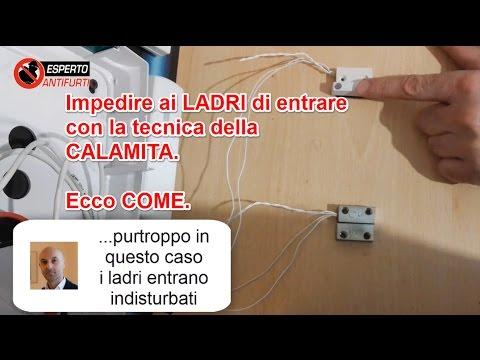 Ecco come i LADRI entrano a casa tua - Contatto magnetico a filo