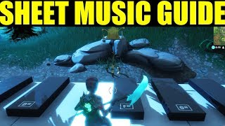 """""""Find The Sheet Music in Pleasant Park"""" Sheet Music Locations Week 6 Challenge Guide"""