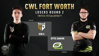 Gen.G vs Optic Gaming | CWL Fort Worth 2019 | Day 2
