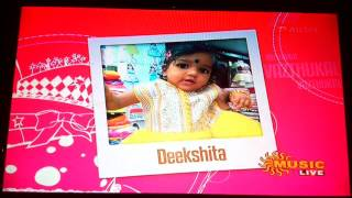 Piranthanal Vazhthukal Deekshita In Sunmusic On 26 08 15