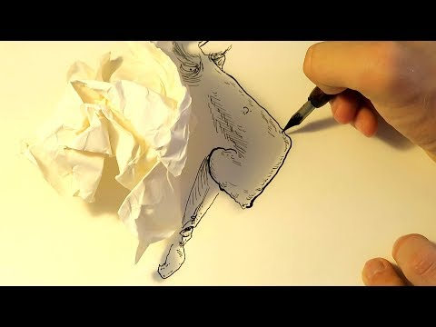 How Shadows From Crumpled Paper are Used for Drawings