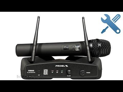 Разборка/ремонт беспроводного микрофона Proel WM6M