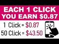 Get Paid To Click On Website ($0.87 Per Click) | FREE Make Money Online - Branson Tay