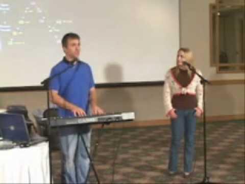 Voice teacher, Eric B., works with Nicolette Zulli at a vocal masterclass / workshop.