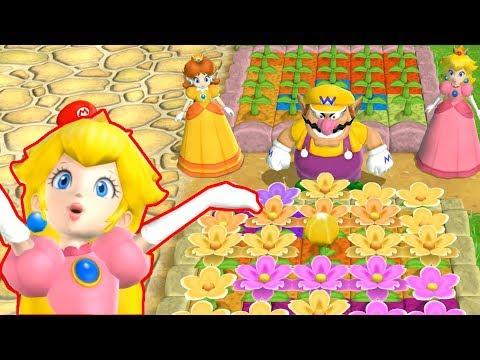 【マリオパーティ9】ガーデンバトルピーチ対デイジー対ワリオ対マリオマスター|ファンマリオゲーム