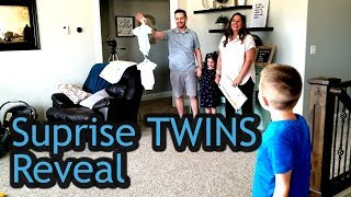 Surprise Twins Reveal with Gender Reveals