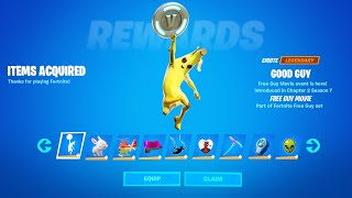 HOW TO GET Free Emote GOOD GUY in Fortnite (Free Guy Challenges)