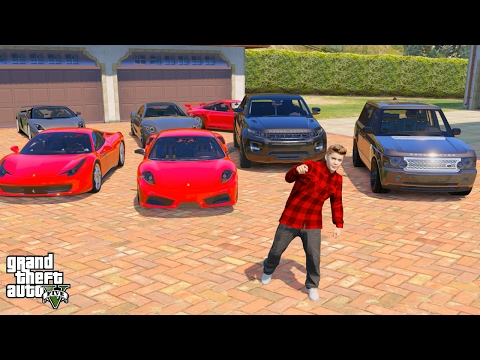 JUSTIN BIEBER GTA 5 REAL LIFE MOD #3 MY 10MILLION DOLLAR CAR
