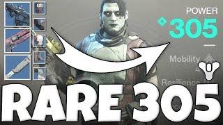 Destiny 2 - How To Get FULL 305 RARE Power Level Gear (Worlds 1st Full Blue Gear 305)