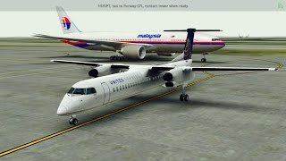 [HD] Infinite Flight Dash 8. Multiplayer. ATC. Takeoff at Los Angeles Airport