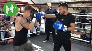 Pound-for-pound No.1 Vasyl Lomachenko shows off his tricks of the trade to London amateur boxers