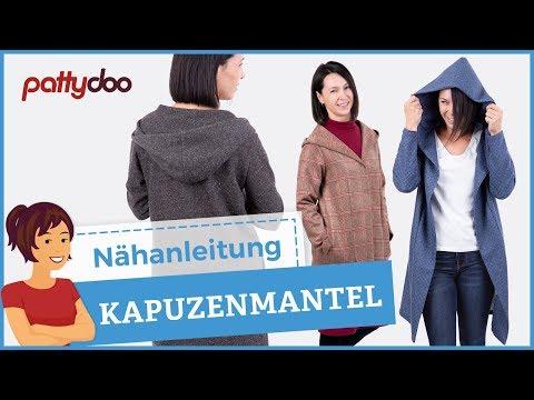 Nähanleitung für einen Mantel mit Kapuze und Nahttaschen - Schnell und einfach genäht!