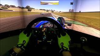 Iracing interlagos race circuit bit tight in places skip barber pov fpv