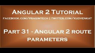 Angular 2 route parameters