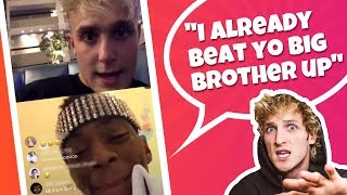 """Jake Paul Calls Out Soulja Boy Who Threatens Him """"I'm gonna pull up on you"""""""