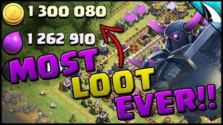 *MOST LOOT EVER* Hitting on Th 11 & Th 12 | Clash of Clans