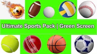 Green Screen props Sports 3D Balls pack | Royalty Free Footages