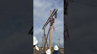 Insulator Change Out On H Structure