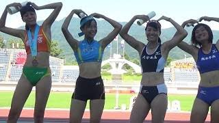 山形インターハイ 女子三段跳 表彰式 2017年8月2日 / 橋本梨沙 12m73 +2.1