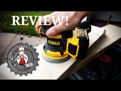 "DEWALT 20 Volt Max Cordless Brushless 5"" Orbit Sander REVIEW! (DCW210B)"