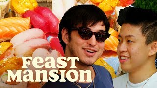 Joji and Rich Brian Learn How to Make Sushi | Feast Mansion