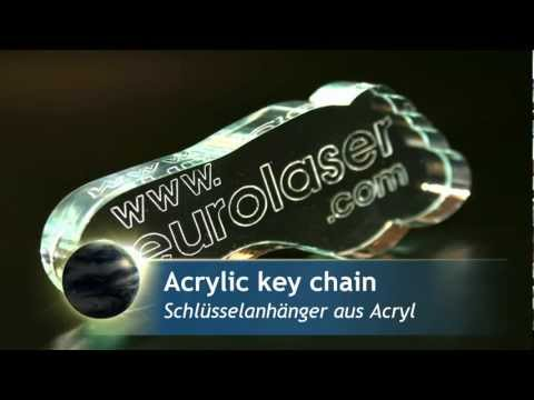 Acrylic key chain | Laser cutting and engraving