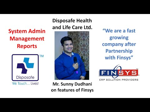 Disposafe Health & Life Care's Mr. Sunny Dudhani, CS, at Finsys ERP Conclave