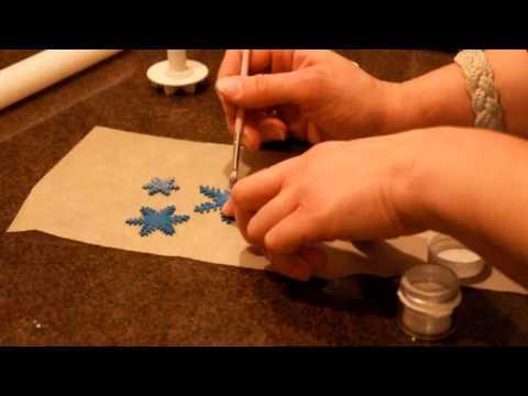 Fondant Snowflake Cookies [HD]