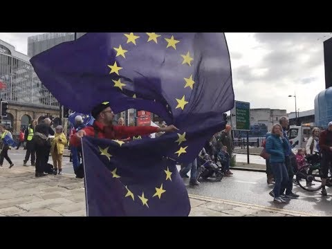 Anti-Brexit Protesters Rally for Second EU Referendum