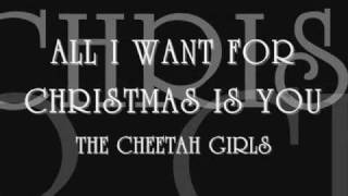All I want for Christmas is you with lyrics