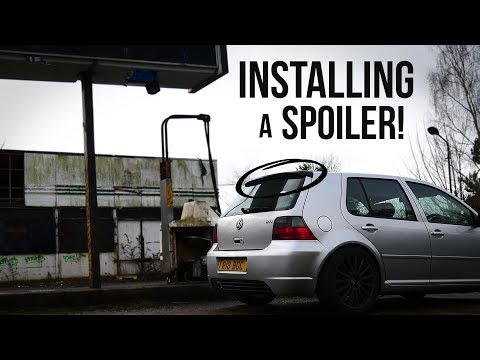 Fitting a Spoiler to the MK4 GTI!