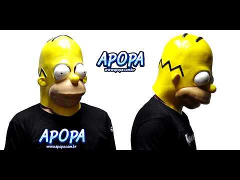 Máscara do Homer Simpson - www.apopa.com.br