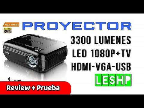 LESHP Proyector LED Full HD 1080P 3200 Lúmenes HDMI VGA USB SD | UnBoxing Review Español