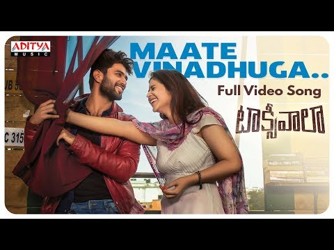 Maate Vinadhuga Full Video Song || Taxiwaala Movie || Vijay Deverakonda, Priyanka || Sid Sriram
