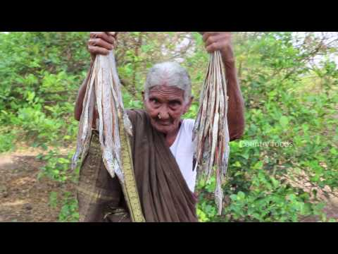 My 105 years Grandma's Village Style Dry Fish Recipe | Traditional Dry Fish Curry | Country Foods