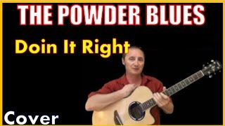 Doin It Right On The Wrong Side Of Town Cover Powder Blues Band