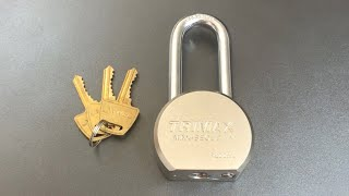 [624] TriMax Round Body Padlock Picked and Gutted (Model TPL2251L)