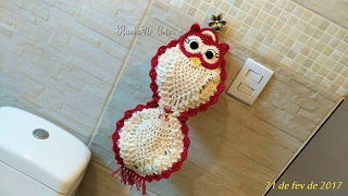 237d203dbbb4d porta papel higienico de croche coruja passo a passo - मुफ्त ...